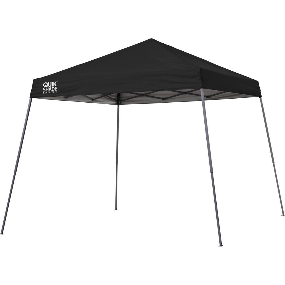 Portable Instant Canopy Tent Black Garden Awning Shelter Camping Beach Vendor