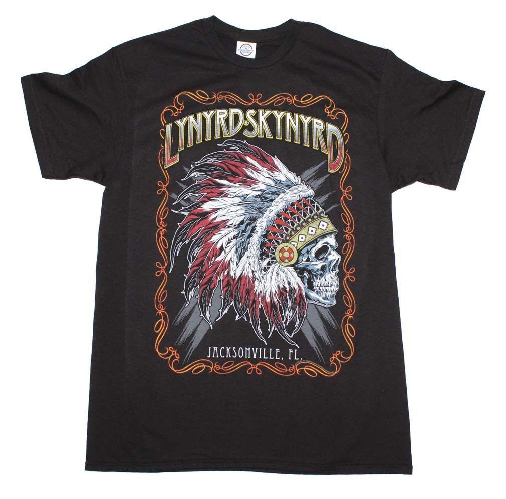 Lynyrd Skynyrd Indian Skeleton T Shirt Lynyrd Skynyrd T Shirt T Shirt Shirts