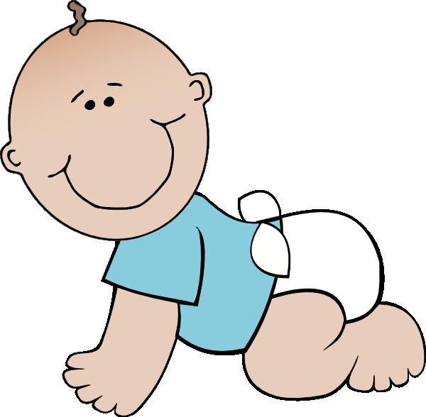 cartoon baby boy baby boy crawling clip art vector clip art rh pinterest com free baby boy shower clipart free new baby boy clipart