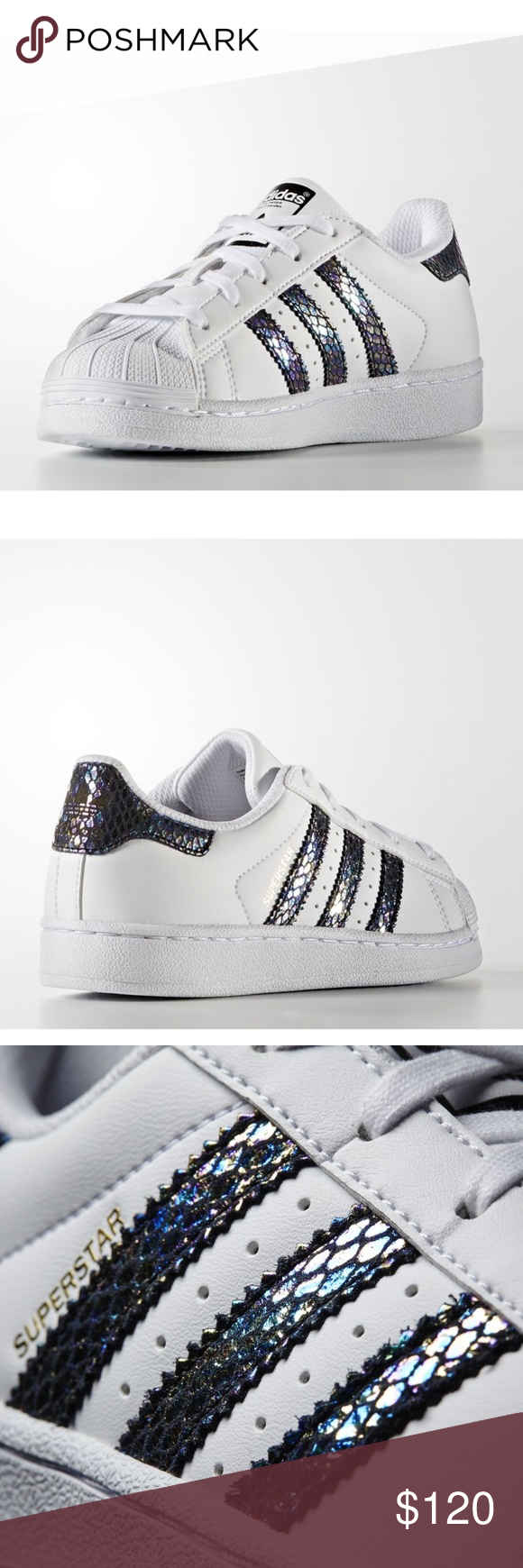 adidas superstar metallic snake