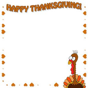 Free thanksgiving border. Borders happy clip art