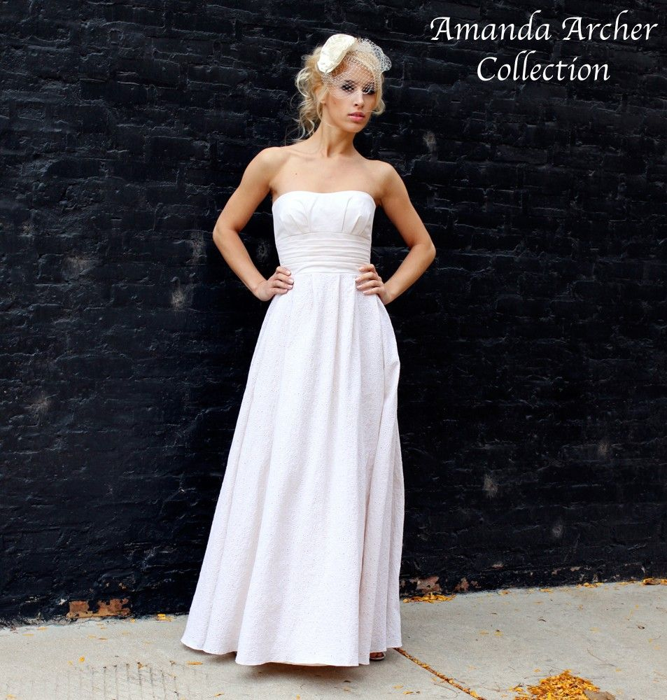 Rendezvous Gown White Eyelet Wedding Dress MADE TO By AmandaArcher 50000 USD Via Etsy