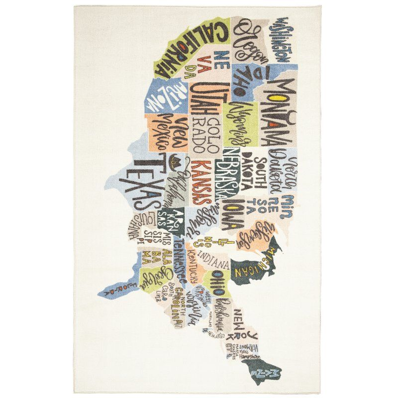 Engler States Map Beige Blue Area Rug Mohawk Home Map Rug Area Rugs
