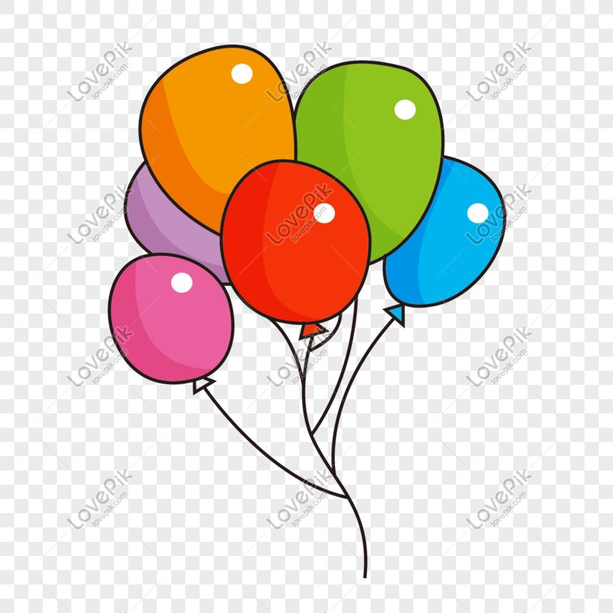 Bahan Kartun Balon Warna Warni Kartun Kartu Balon