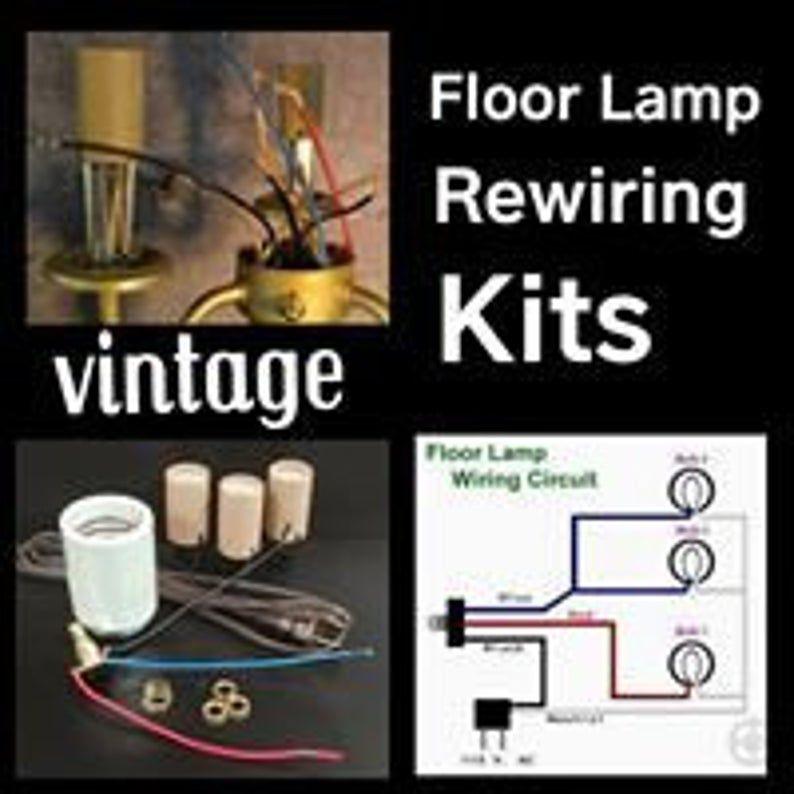 Lamp Rewiring Kit For Vintage 3 Arm Floor Lamp Etsy In 2020 Vintage Floor Lamp Arm Floor Lamp Floor Lamp