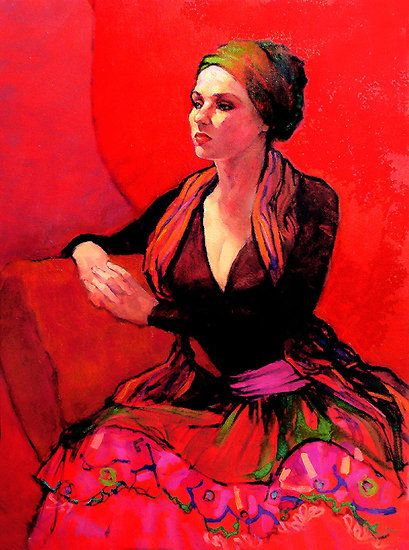 """gypsy oil paintings 