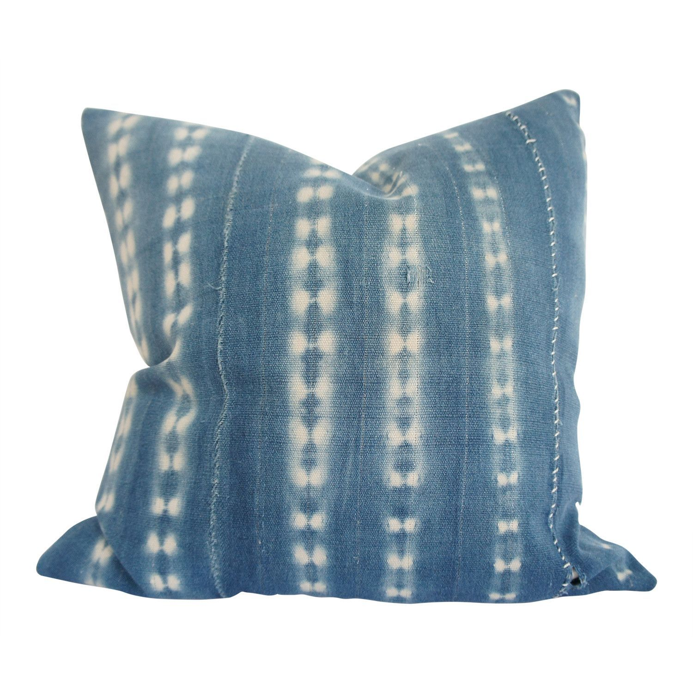 Vintage African Indigo Pillow | ROSANNA 18x18