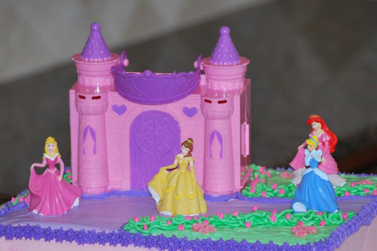 Disney princess castle cake cake toppers princess