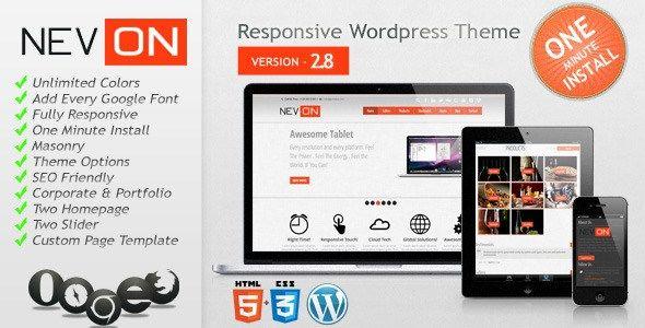 Nevon v2.8 - WordPress Responsive Business Portfolio Theme ...