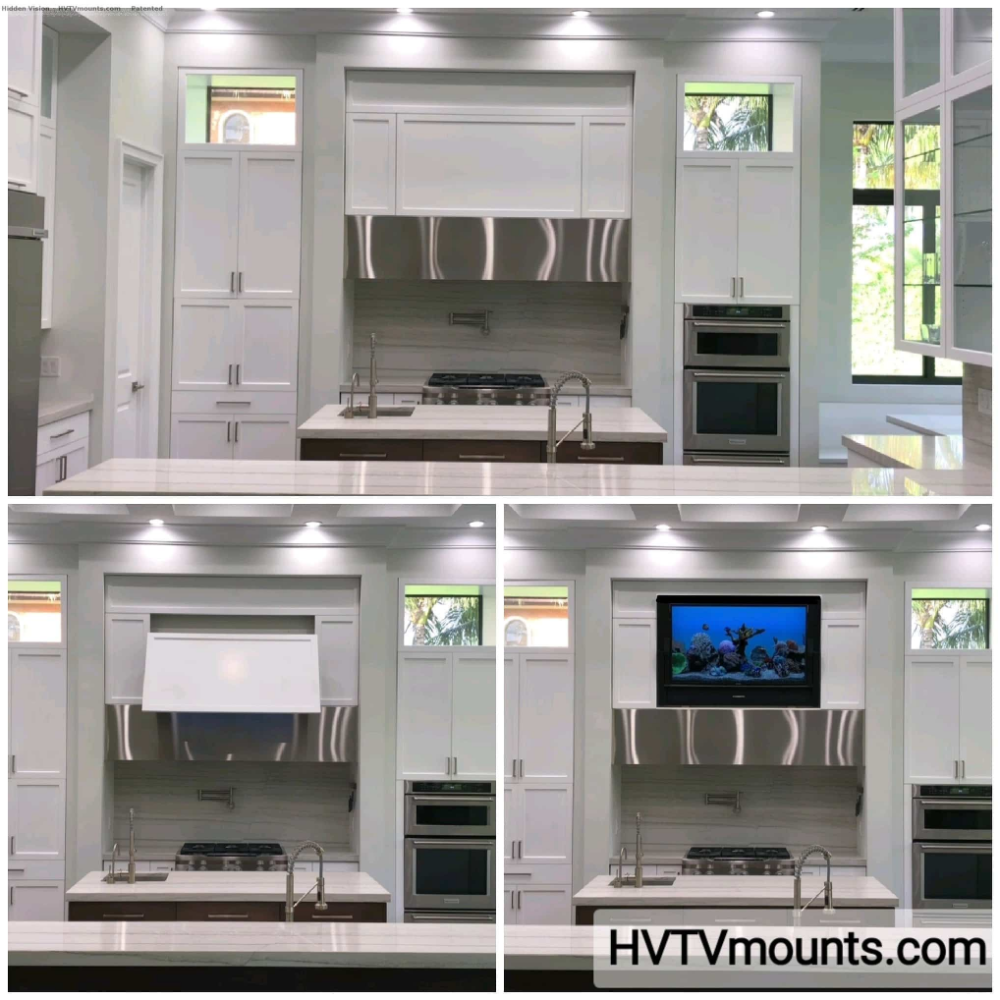 Flip Around Hidden Tv Wall Mount Hidden Vision Tv In Kitchen Tv Wall Cabinets Home Automation System