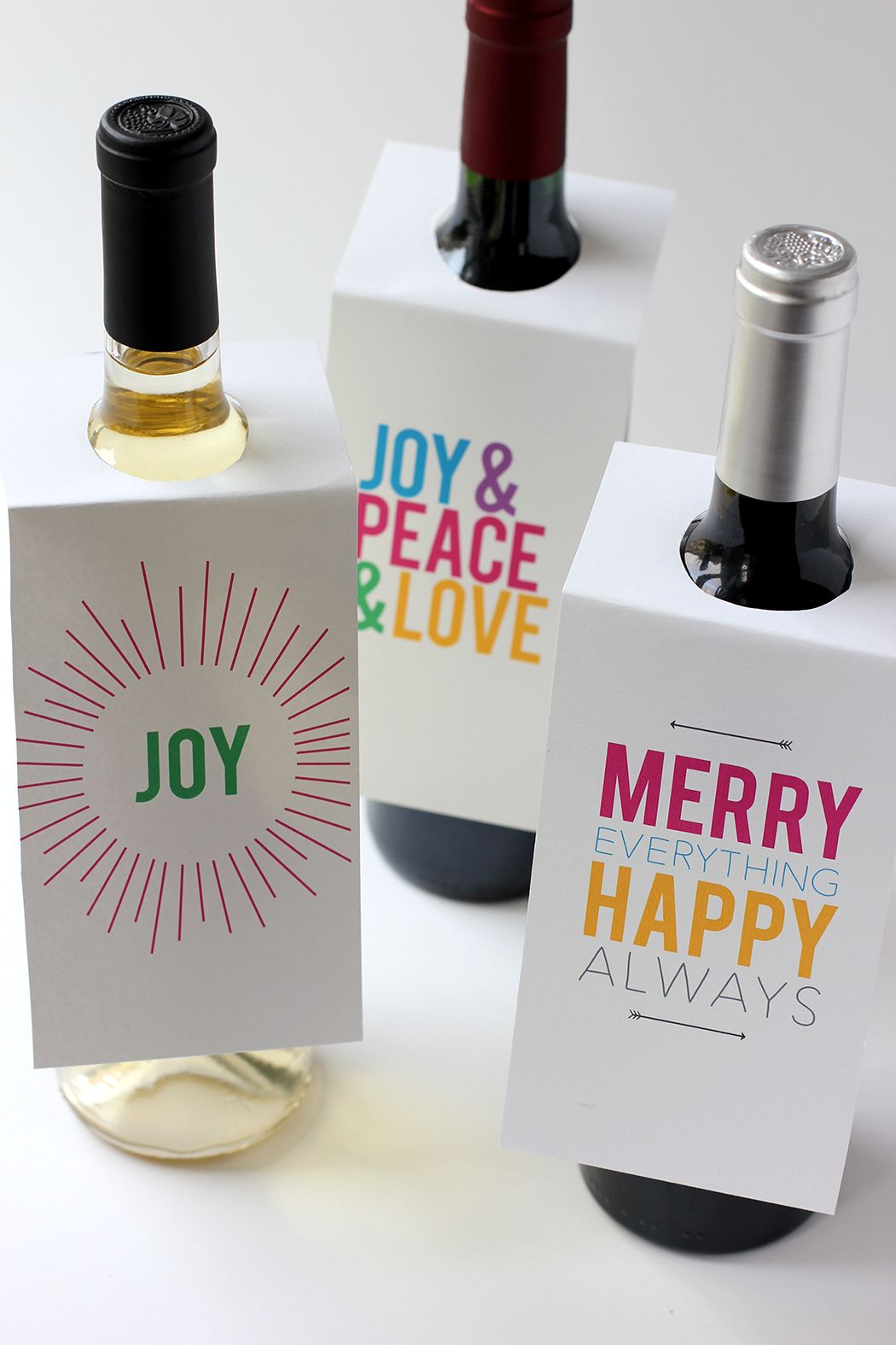 Holiday Wine Bottle T Tags Free Printable