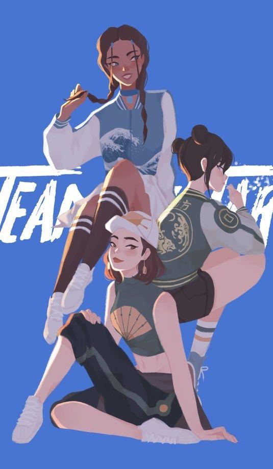 Team Avatar - Girls, an art print by Pauline