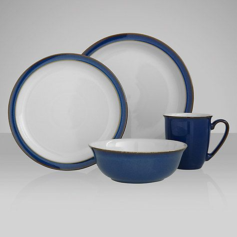 Denby Imperial Blue Tableware Tableware Blue Dinner Plates