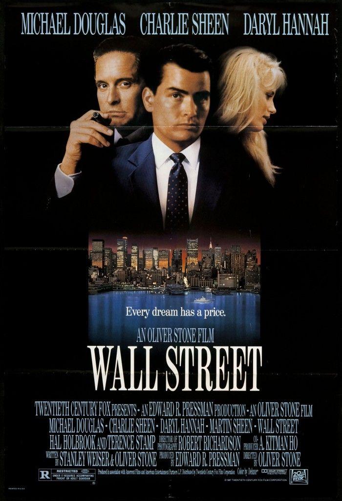 Wall Street Une Histoire De Requin De La Finance Oiver Stone Precurseur Avec Ce Film Qui Denonce Les Abus De La Finance Street Film Charlie Sheen Wall Street