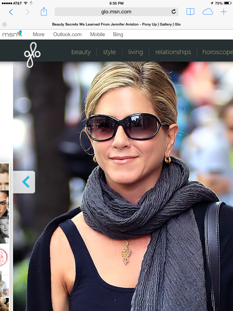 36fb0f36585 Jennifer Anniston wearing Tom Ford s Jennifer Sunglasses