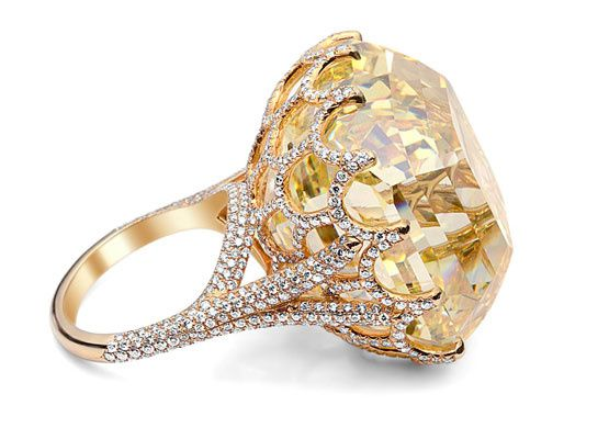 The Cullinan Asscher cut yellow diamond