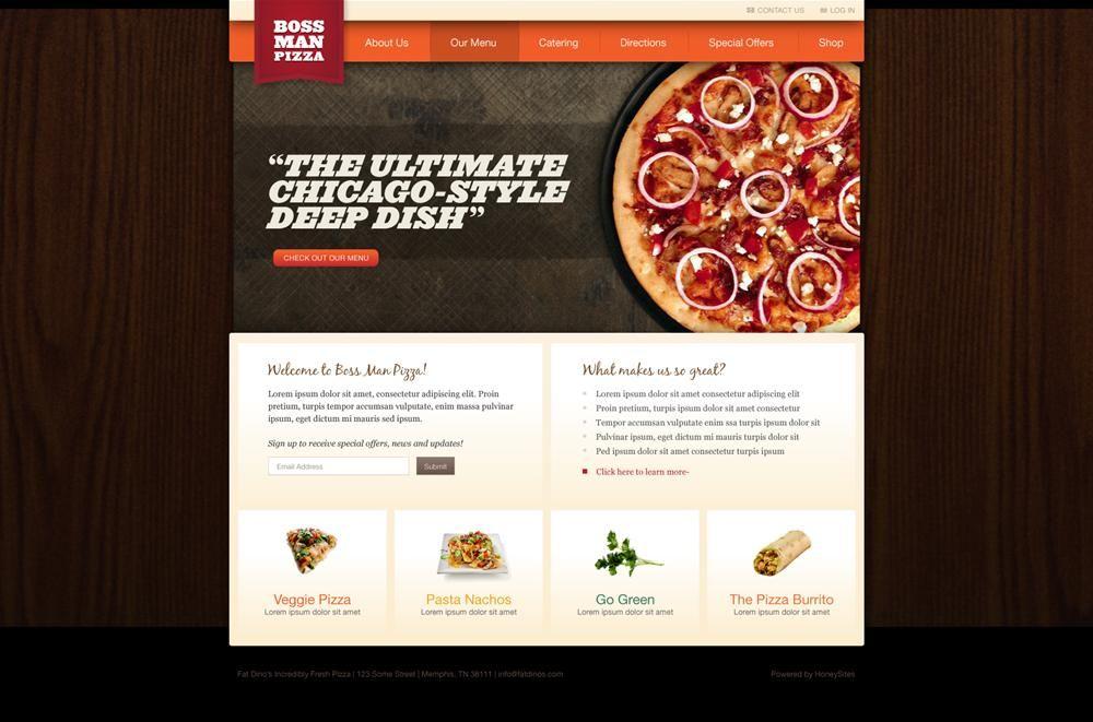 Restaurant Website Design Options and Restaurant Website Templates ...