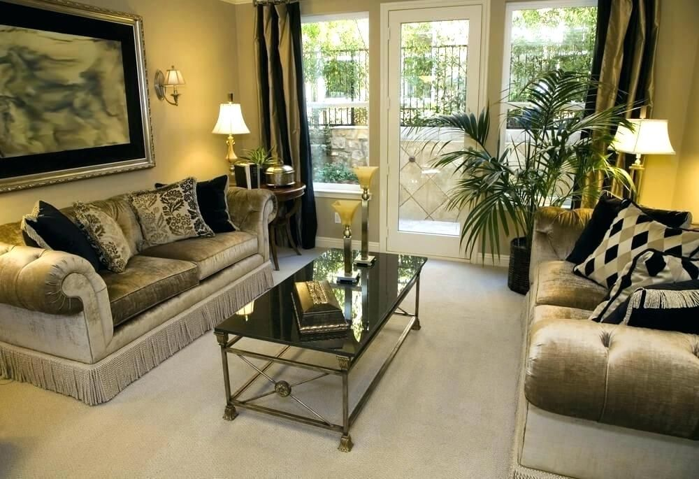 Black Gold And Cream Living Room Ideas Gold Brown Living ...