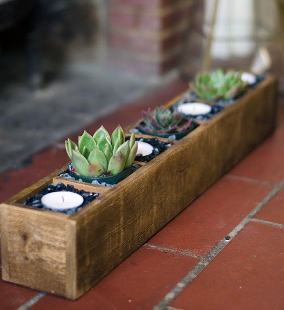 Your Place To Buy And Sell All Things Handmade Succulent Planter Diy Wood Succulent Planter Succulents Diy
