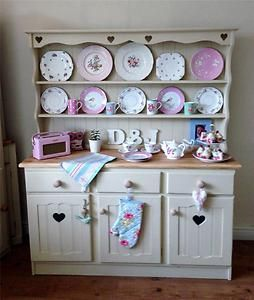 Shabby Chic Hand Painted Solid Pine Country Farmhouse Kitchen Dresser For Sale On Ebay Uk Old Fashioned Kitchen Country Kitchen Farmhouse Shabby Chic Furniture