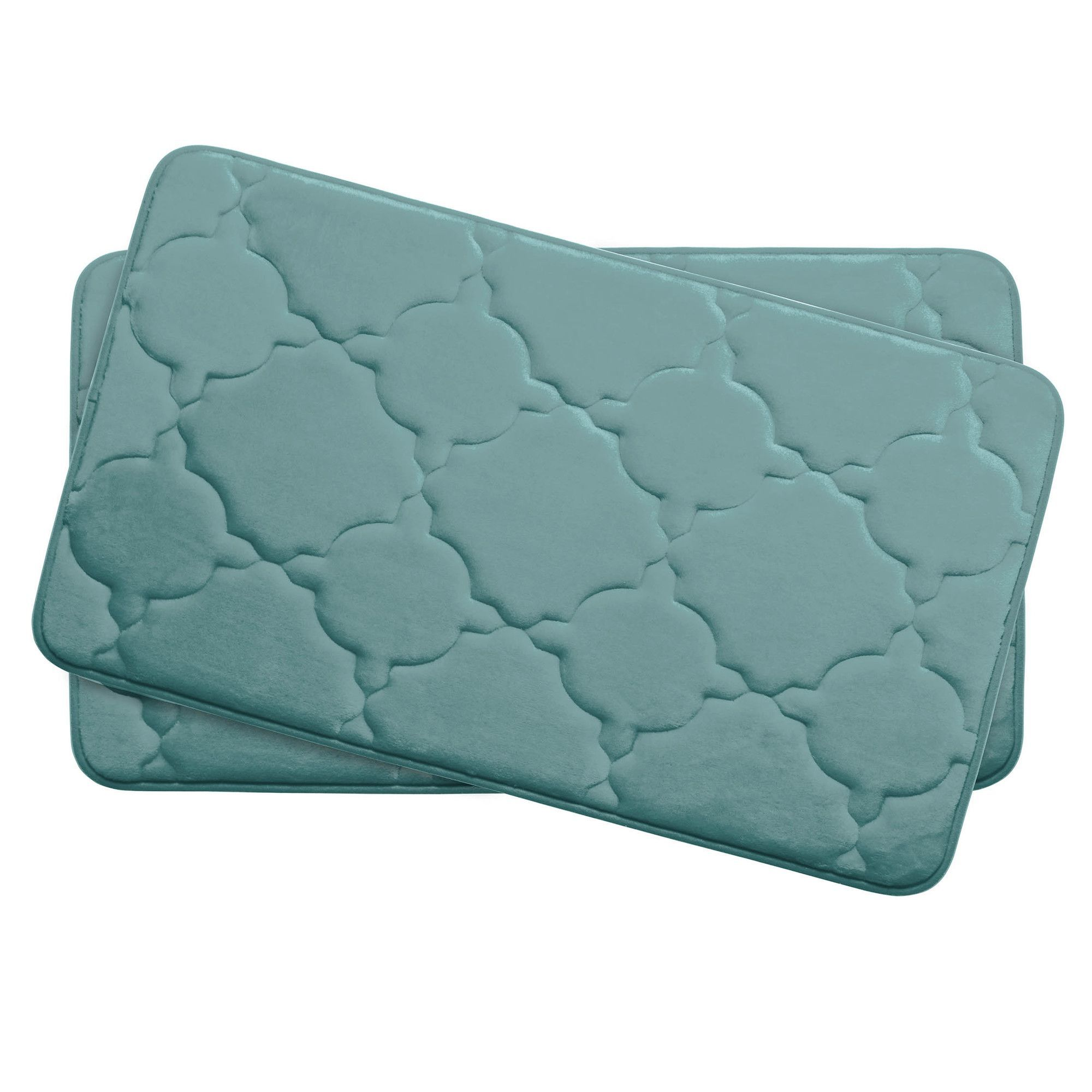 Dorothy Small 2 Piece Premium Micro Plush Memory Foam Bath Mat Set