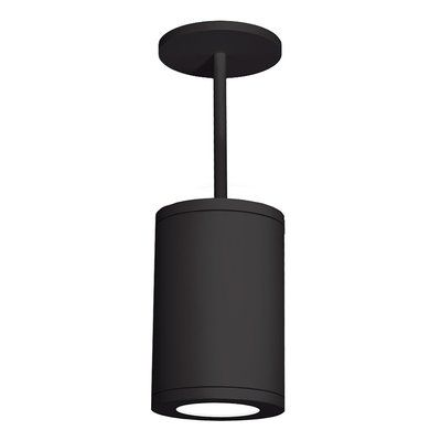 WAC Lighting Tube 1-Light Cylinder Pendant Finish: Black, Size: 33.27 H x 8 W x 11.81 D #ledtechnology