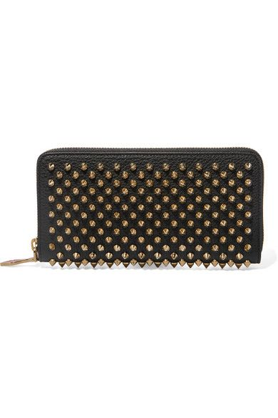 e11bb0d6416 Christian Louboutin | Panettone spiked textured-leather wallet | NET ...