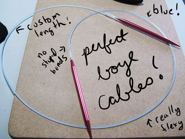 finished by rheatheylia, via Flickr: Making your own cables for Boye Needlemaster Knitting Needles
