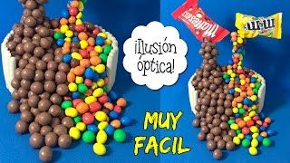 TARTA ANTI-GRAVEDAD * ILUSIÓN OPTICA con Maltesers y M&M's  ** ¡Hoy no hay cole! - YouTube