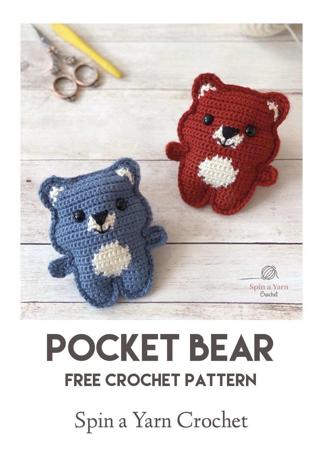 Pocket Bear #crochetanimalamigurumi