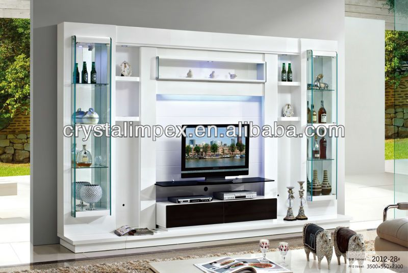 Modern living room led tv wall unit view led tv wall unit Living room cupboards designs