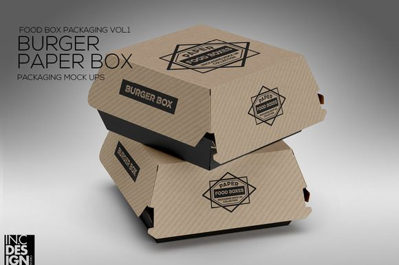 Download Burger Box Packaging Mockup Burger Box Food Box Packaging Burger Packaging
