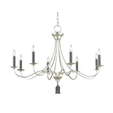 Currey company bexley 8 light chandelier in contemporary silver leaf blacksmith 9447