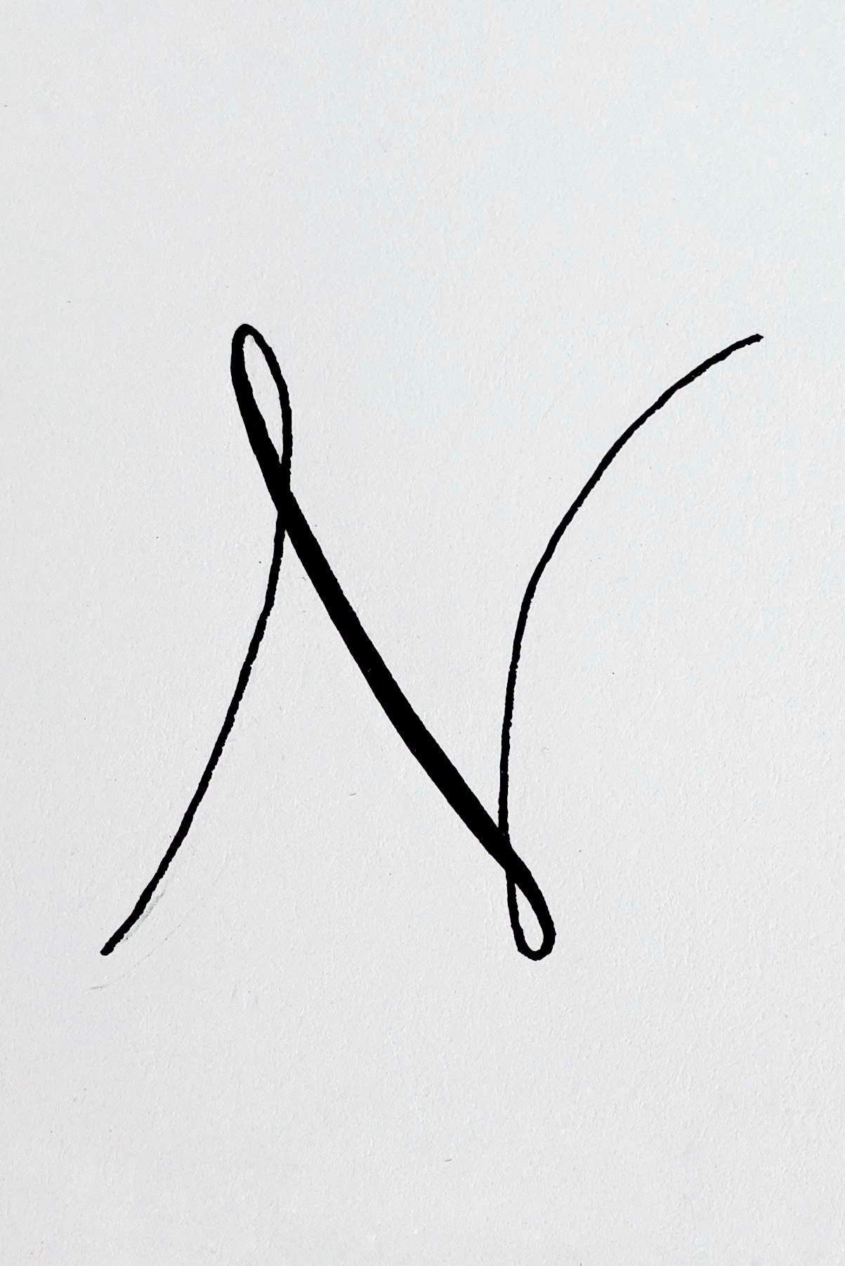 Letter N In Different Fonts : letter, different, fonts, Letter, Things, Night, Style, Study, Monogram, Tattoo,, Lettering, Fonts,, Tattoo