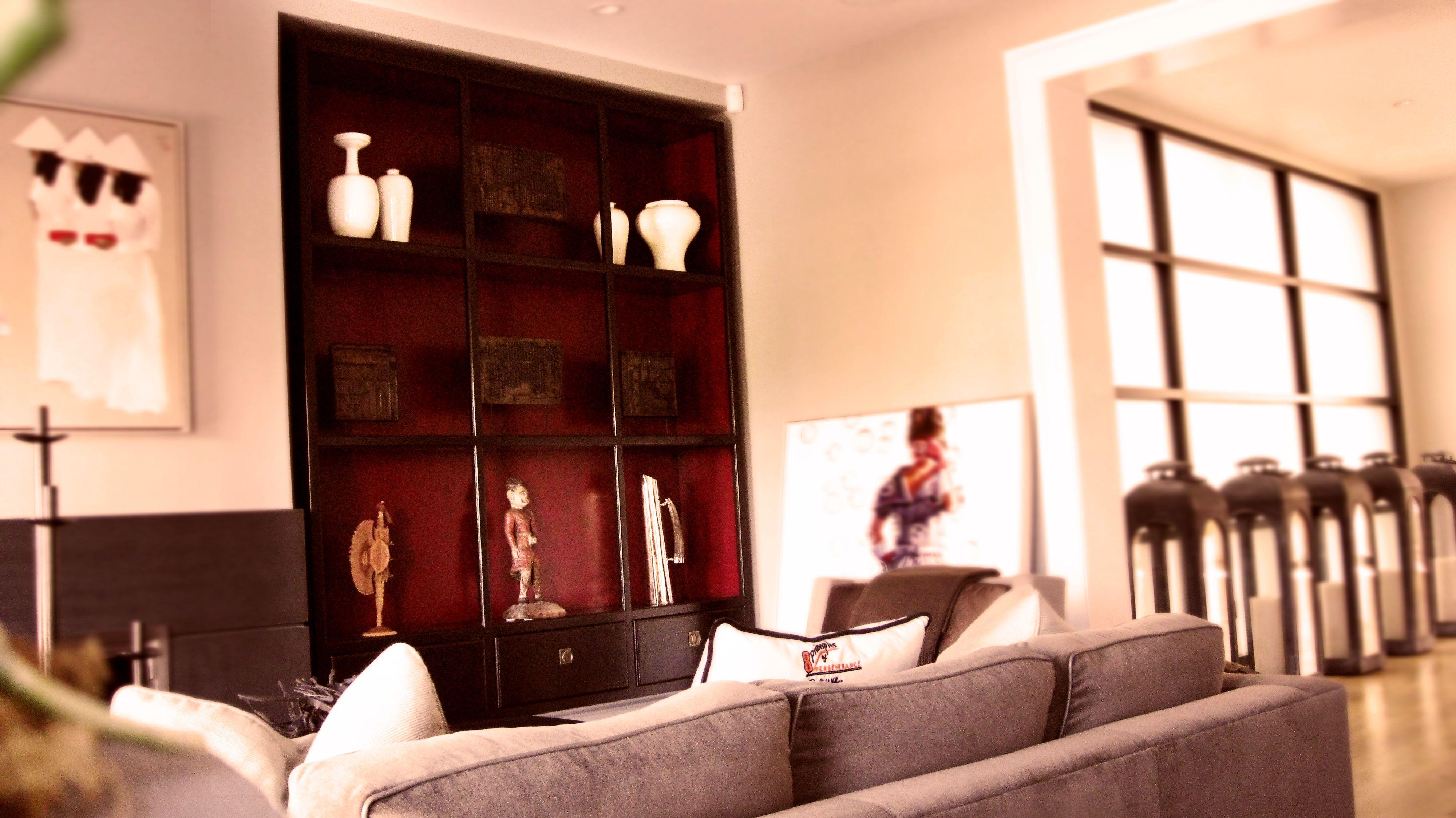 Master bedroom wardrobe designs inside  Custom made antique shelf  feet high for SF living space San