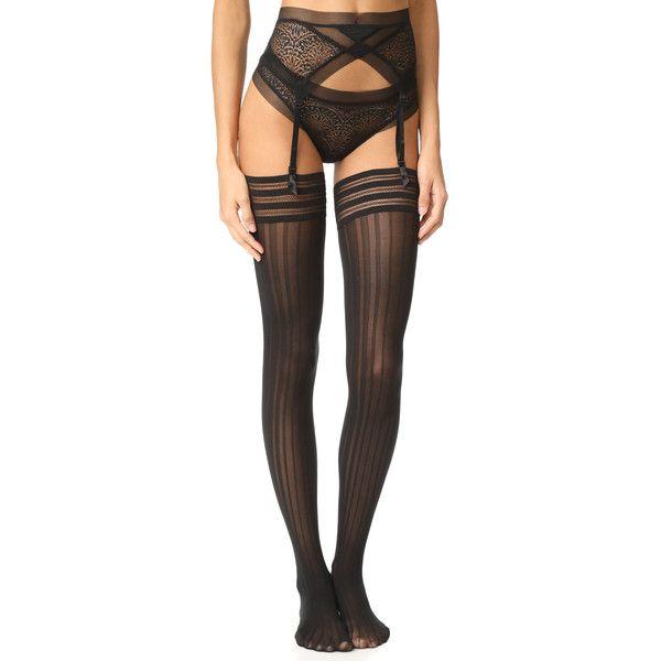 6fc0dba3a1f Calvin Klein Underwear CK Black Garter ( 48) ❤ liked on Polyvore featuring  intimates