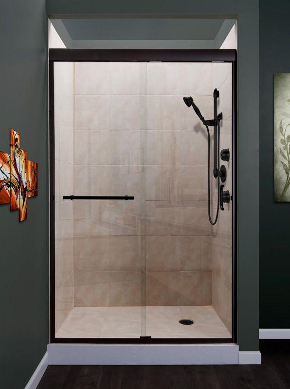 Miseno Msdc4876 Azul 76 High X 48 Wide Frameless Sliding Shower