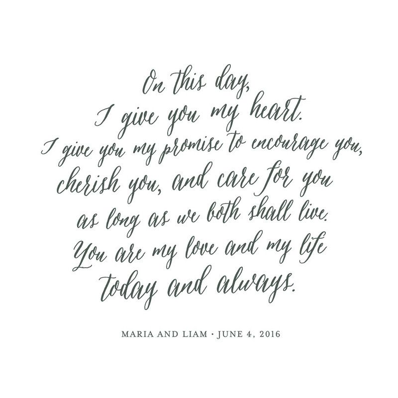 Best Wedding Readings Non Religious: Your Vows As An Art Print In 2019
