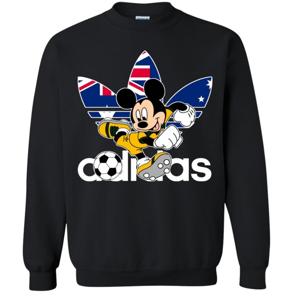 Mickey Mouse Adidas Australia Football Pullover Sweatshirt