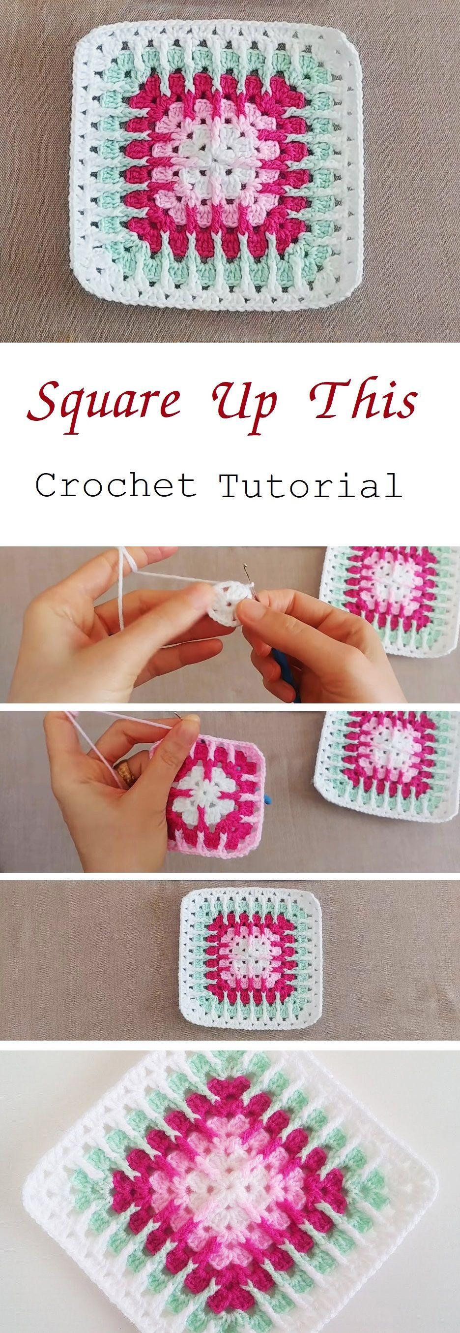 Crochet Square – Easy to Make (Tutorial | Häkeln, Häkelmuster und Decken