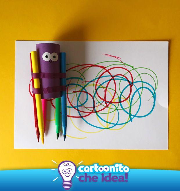 896a9032c1f3 Realizza con #CartoonitoCheIdea il super Tubo di #colori. Per i più piccoli  sarà