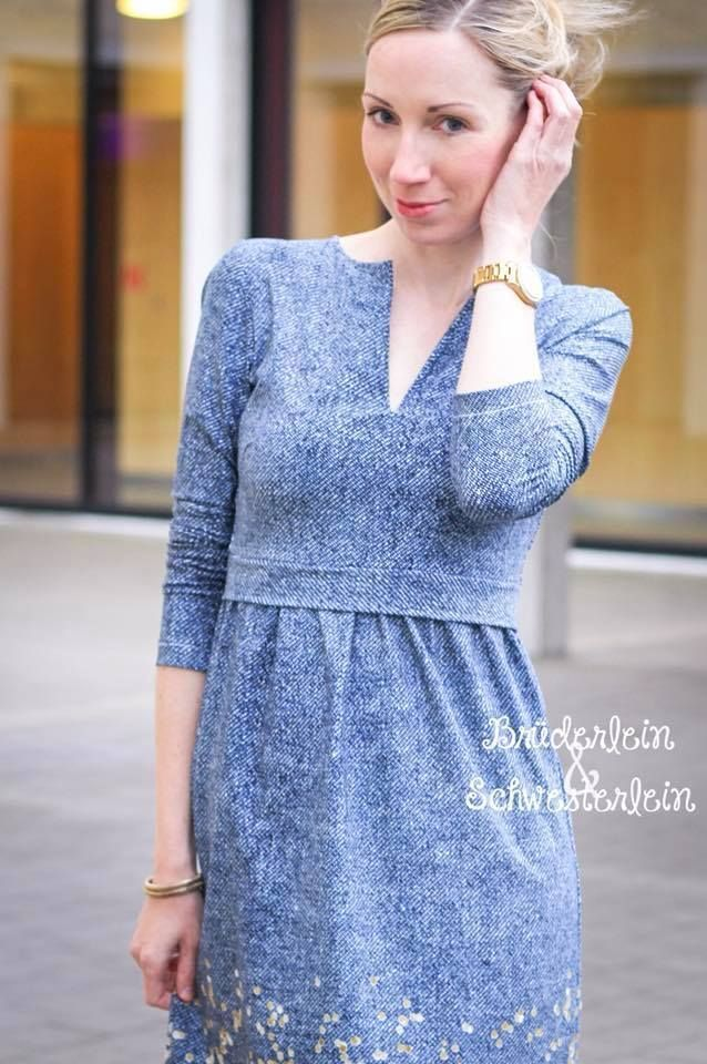 elisabeth   frühlingskleid, kleider damen, schnittmuster kleid