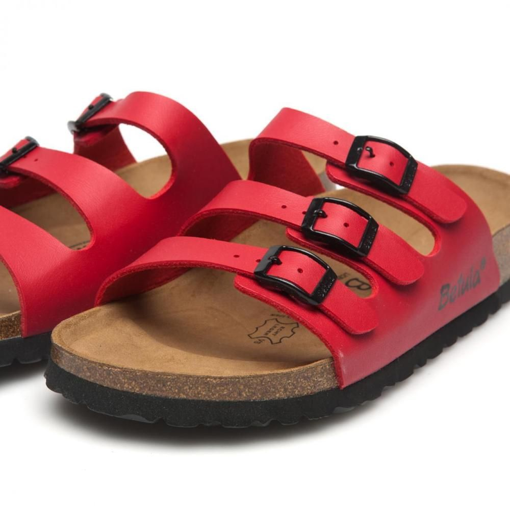 Betula by Birkenstock Woogie Red Sandals Slides Mules Shoes