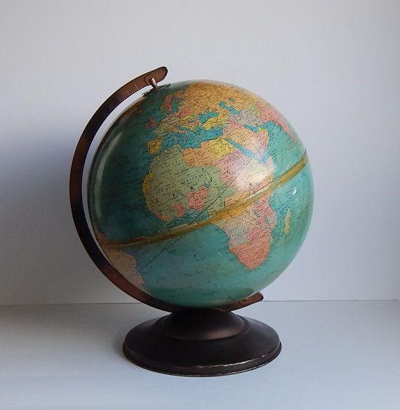 Vintage Replogle Globe by World Nation series 12 inch 1970