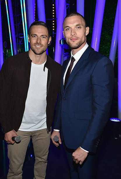 Actors Dylan Bruce and Ed Skrein attend the MTV Fandom