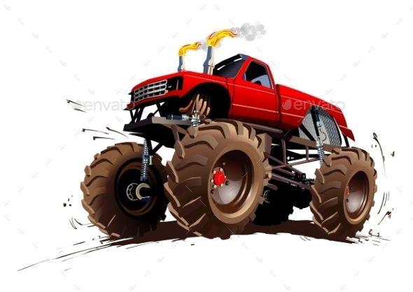 Cartoon Monster Truck Monster Trucks Classic Chevy Trucks Vintage Trucks