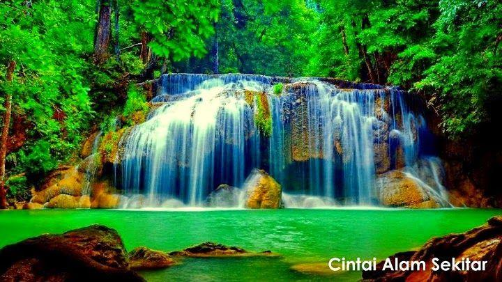 Cintai Alam Sekitar  keindahan alam  Waterfall wallpaper