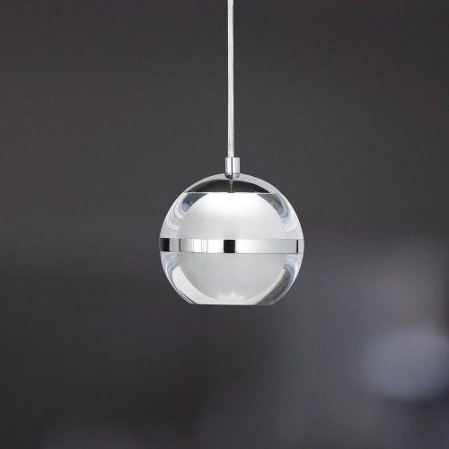 Klick Licht hochwertige led pendelleuchte fulton in chrom 1 flg wofi