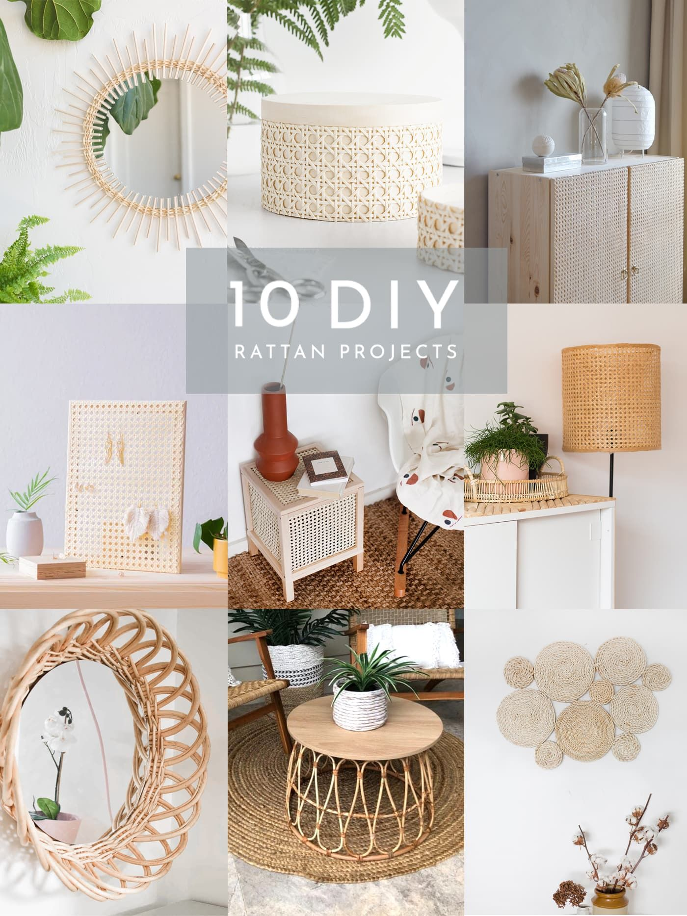 10 DIY Rattan Projects To Try | The Lovely Drawer