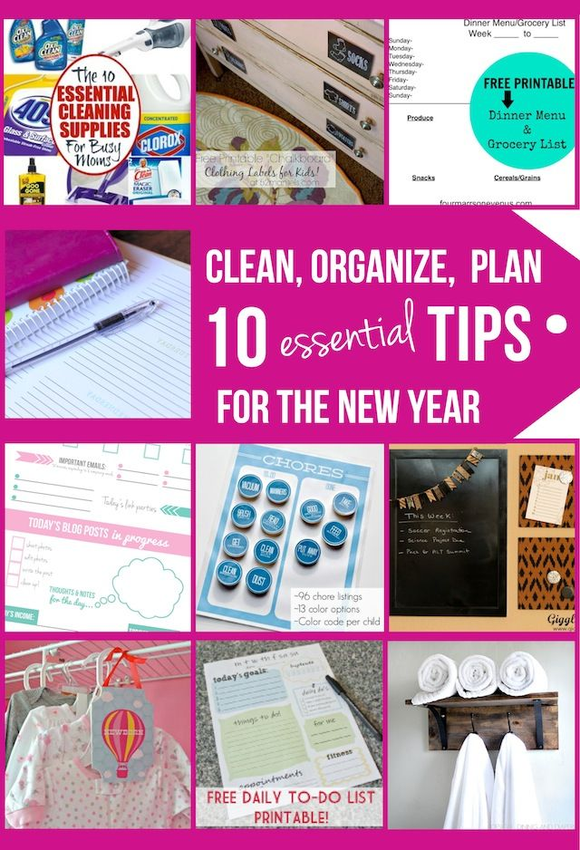 10 Fabulous Organization Ideas, Printables and Tips & Tricks from 10 fabulous bloggers! Get your new year organized!! #tipsandtricks #organization